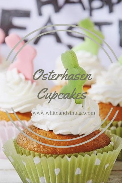 osterhasen cupcakes white and vintage. Black Bedroom Furniture Sets. Home Design Ideas