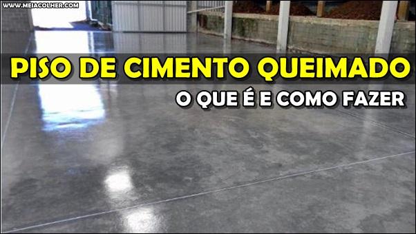 piso de cimento queimado