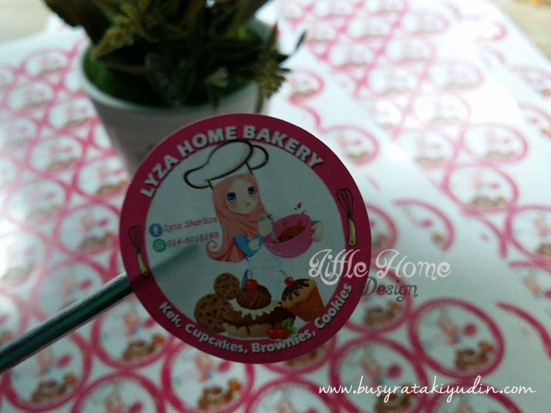 ROUND STICKER 4CM | LYZA HOME BAKERY