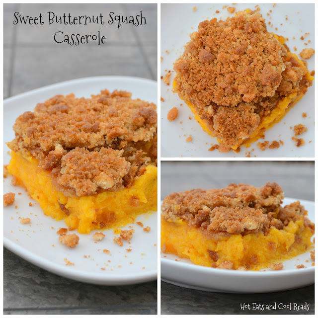 A delicious, sweet squash casserole that's a holiday family favorite! The crunchy topping is to die for and it makes enough to feed the whole family at Thanksgiving or Christmas! Sweet Butternut Squash Casserole Recipe from Hot Eats and Cool Reads
