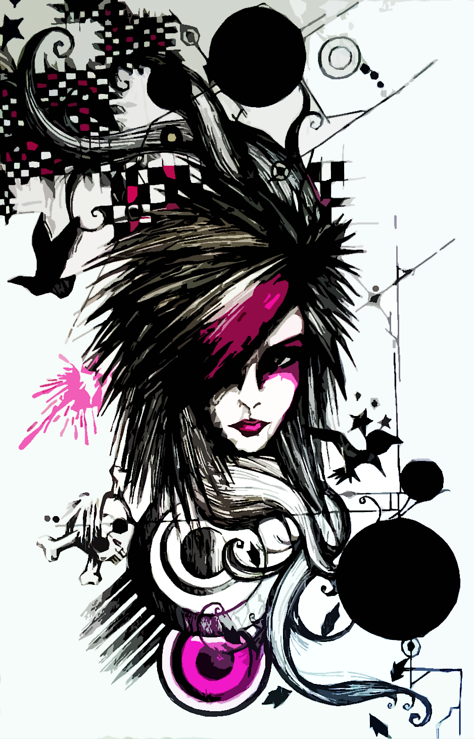 Gambar Kartun Emo Style