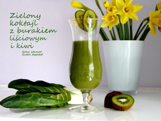 Zielony koktajl z burakiem liściowym i kiwi - Czytaj więcej »