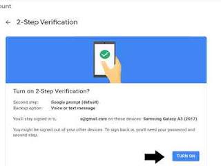 Cara mengaktifkan verifikasi dua langkah akun google