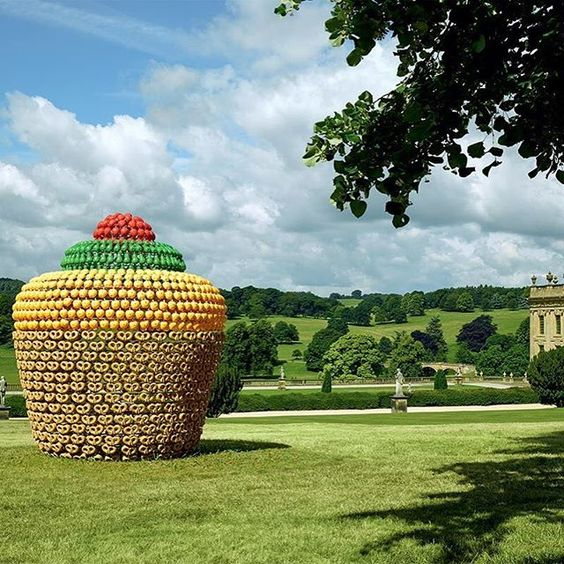 Fruitcake, Joana Vasconcelos. Beyond Limits Chatsworth Gardens