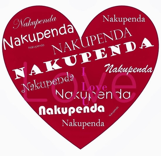 Nakupenda means Love in Swahili