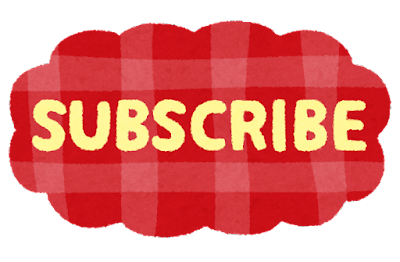 「SUBSCRIBE」のイラスト文字