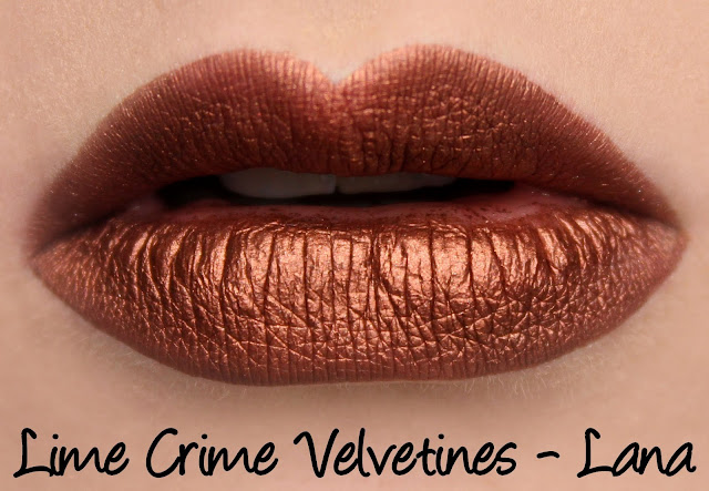 Lime Crime Velvetines - Lana Swatches & Review