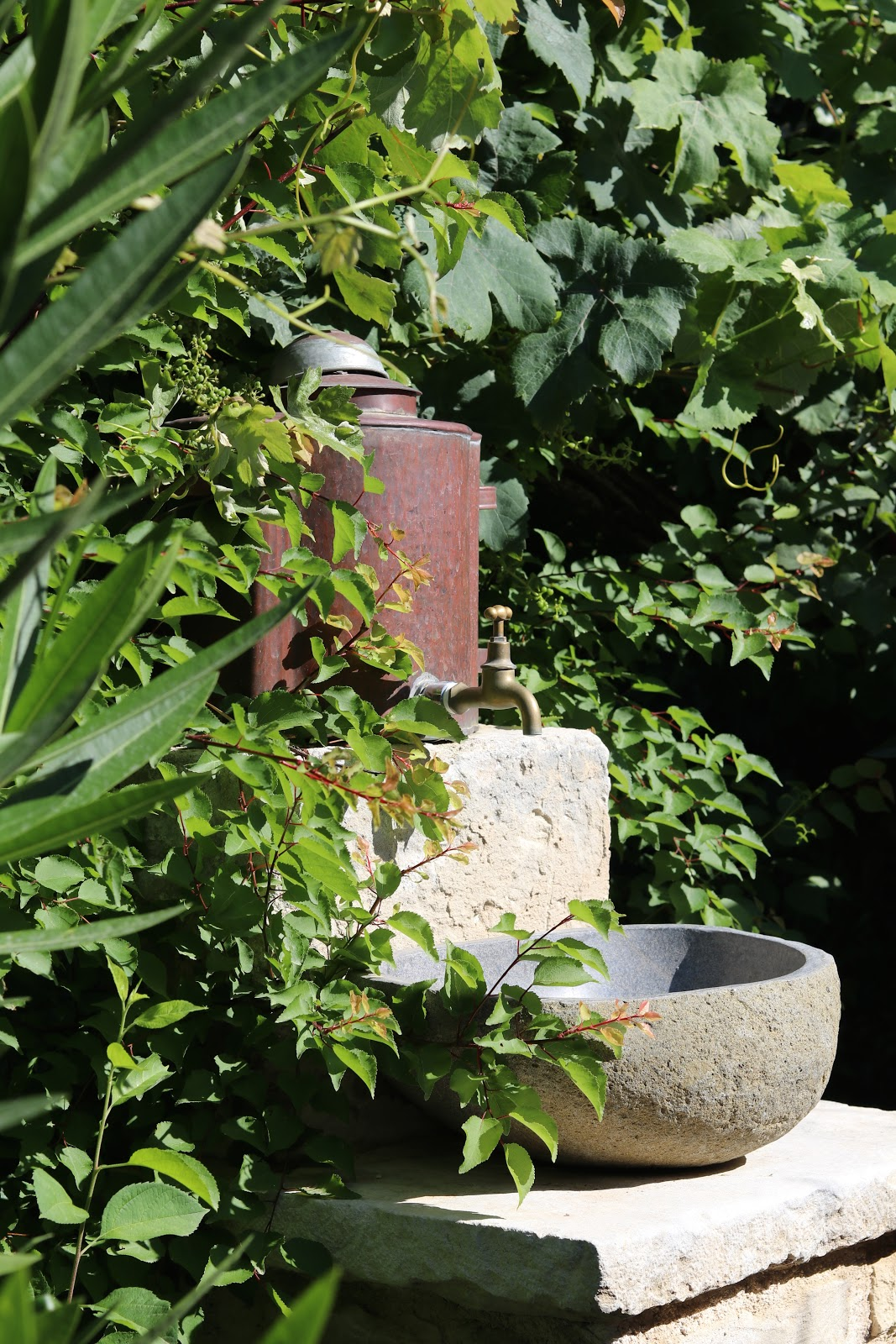 Stone outdoor sink, F Zeen Resort, Unique Villas, Kefalonia