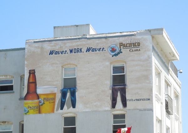 Pacifico Beer Waves Work Waves wetsuit billboard Venice Beach