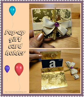 Gift card holder tutorial