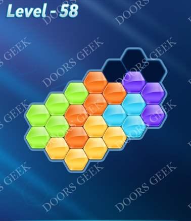 Block! Hexa Puzzle [Intermediate] Level 58 Solution, Cheats, Walkthrough for android, iphone, ipad, ipod