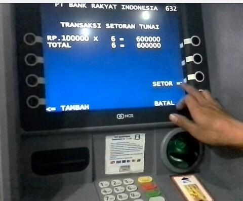 Cara Menabung Lewat ATM Setoran Tunai BRI (Upadate)