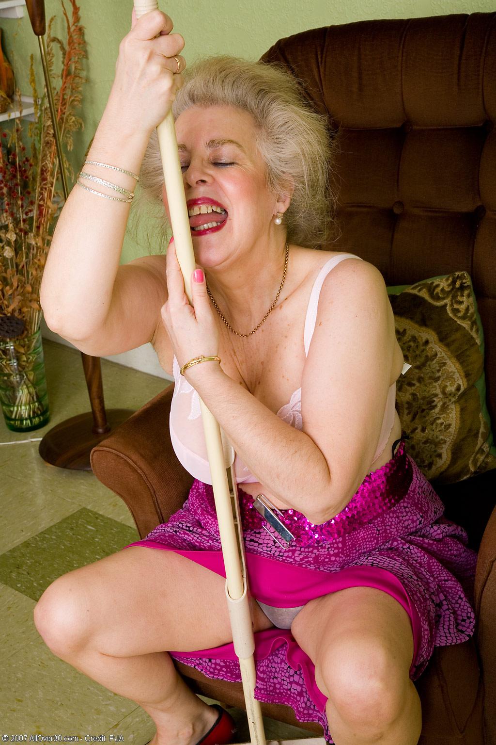 Busty senior women congratulate, you