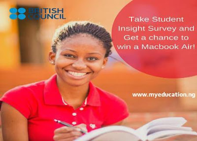 British Council Nigeria Student Insight Survey – Win a MacBook Air