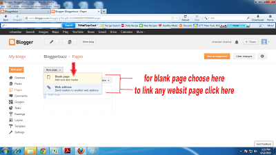 Create pages in your blog