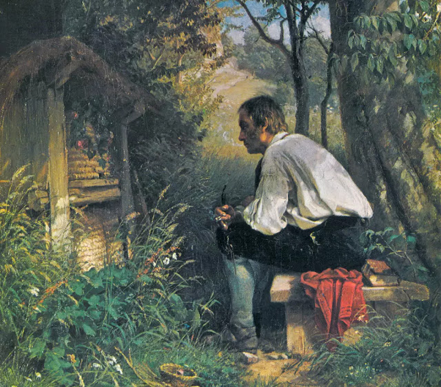 The bee friend, a painting by Hans Thoma (1839–1924)