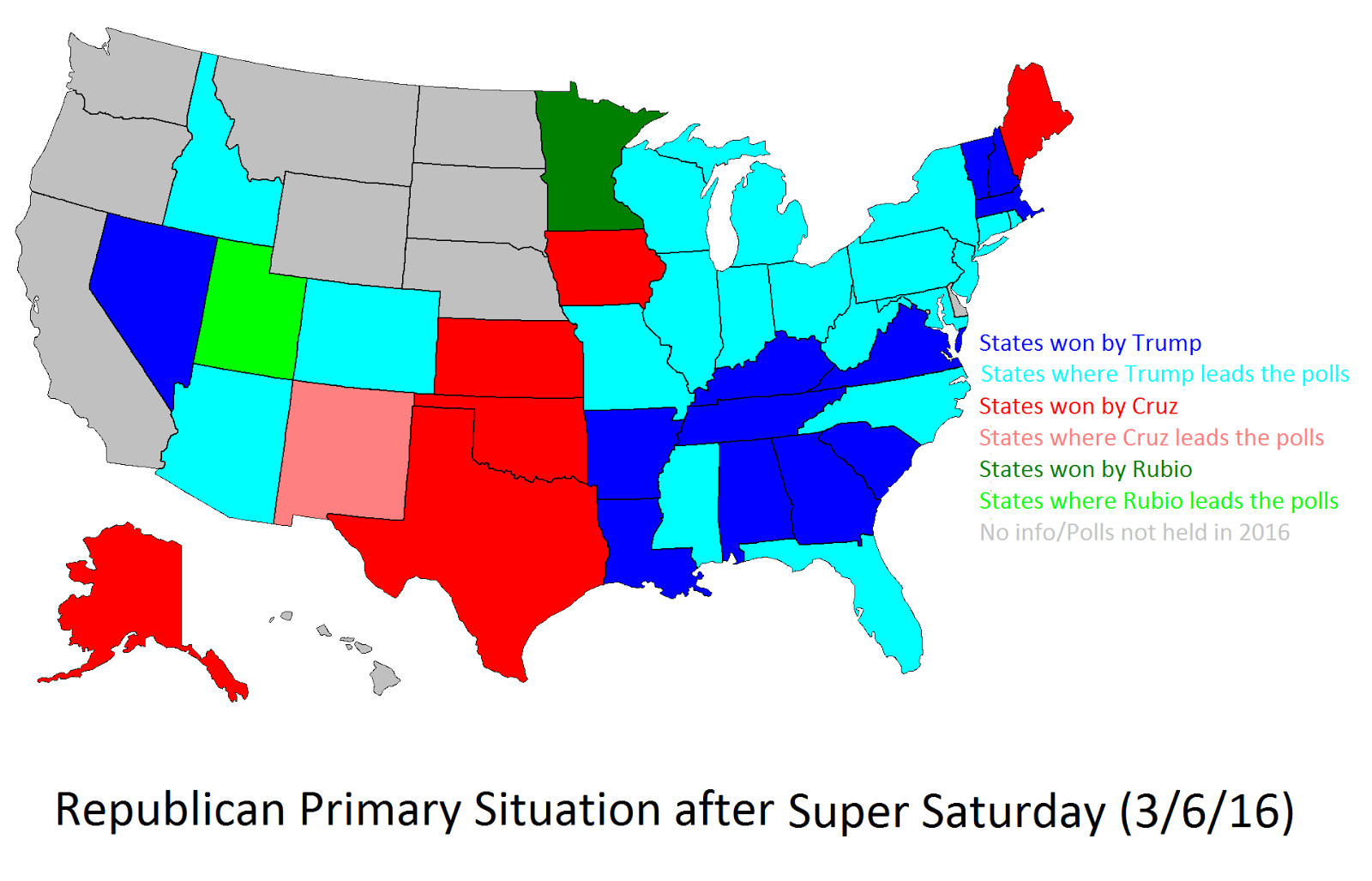 Republican Primary Situation after Super Saturday