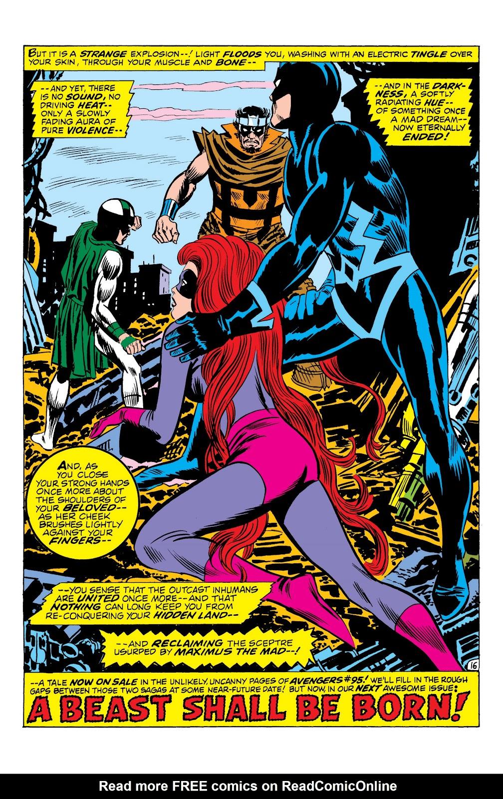 Read online Marvel Masterworks: The Inhumans comic -  Issue # TPB 1 (Part 2) - 94