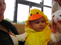 Baby Boy dressed up as an Easter Chick