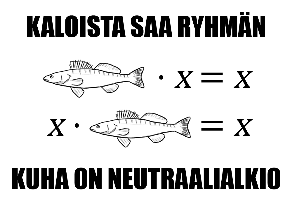 Kaloista saa ryhmän - kuha on neutraalialkio