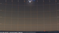 05.01.2018 - koniunkcja Księżyca z Regulusem