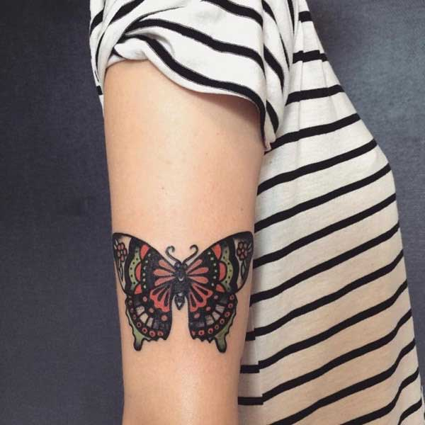 girly butterfly tattoo for arm