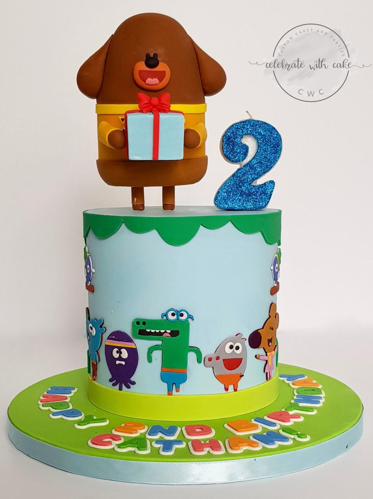 Celebrate With Cake Hey Duggee Single Tier