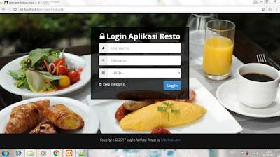 Source Code Program Aplikasi Kasir Restoran / Kafe Berbasis WEB