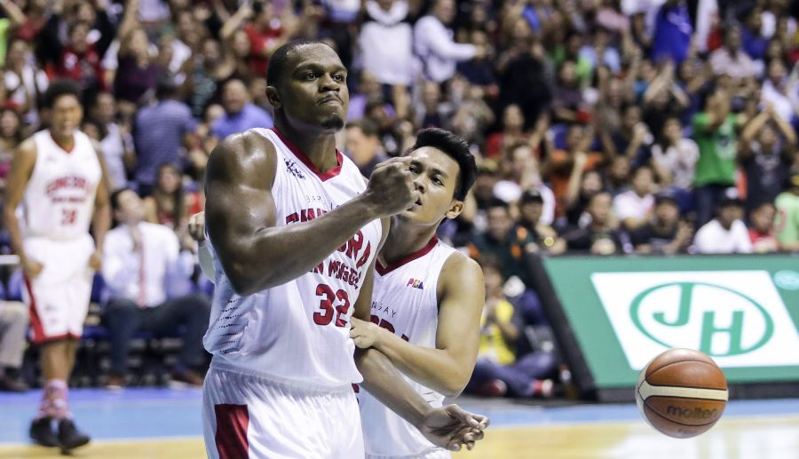 Justin Brownlee helped Ginebra survived game number 3