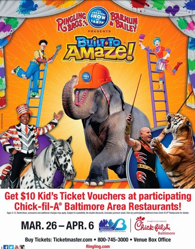 ticket deals, Baltimore arena, Ringling Bros. Circus