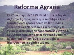Ley de Reforma Agraria en Cuba