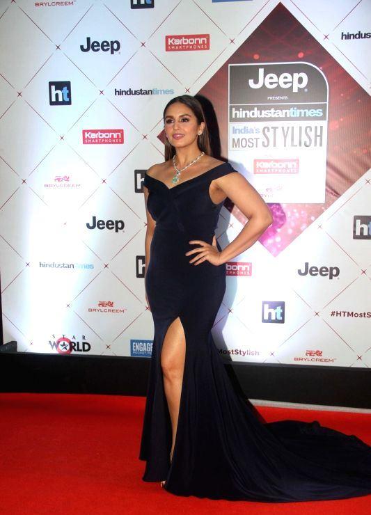 Huma Qureshi in blue dress