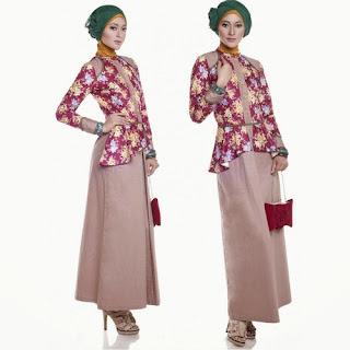 contoh baju muslim batik