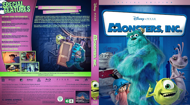 Monsters, Inc Bluray Cover