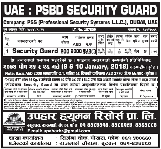 Jobs in UAE for Nepali, Salary Rs 55,483