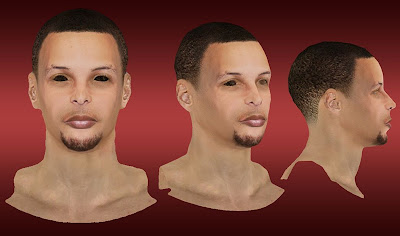 NBA 2K13 Stephen Curry Cyberface Mod