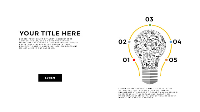 Infographic Education Light Bulb Elements Free PowerPoint Template Slide 5