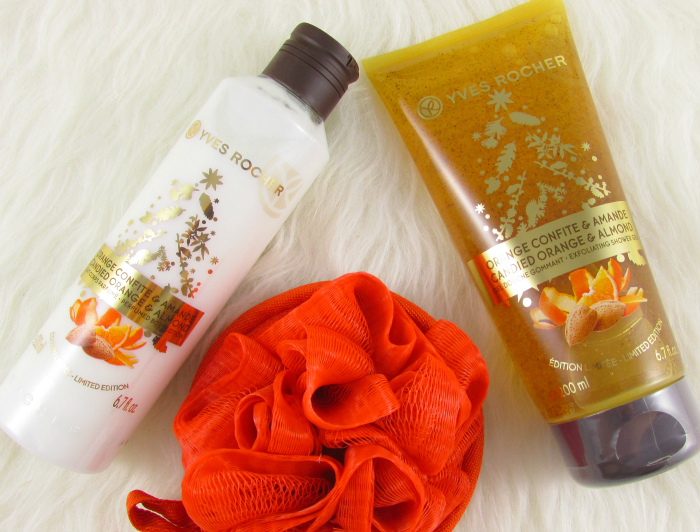 Review: Yves Rocher Limited Edition - Candied Orange & Almond Körpermilch & Dusch Peeling - je 4.99 Euro