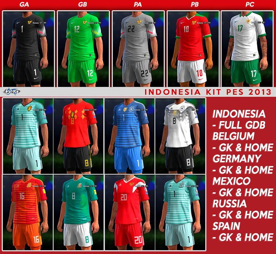 ultigamerz: PES 2013 Update National Team Kits-Pack 2018