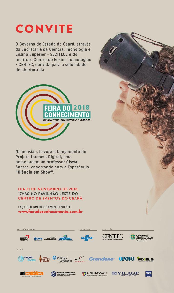 Governo do Ceará promove Feira do Conhecimento 2018 b0afa52be6d
