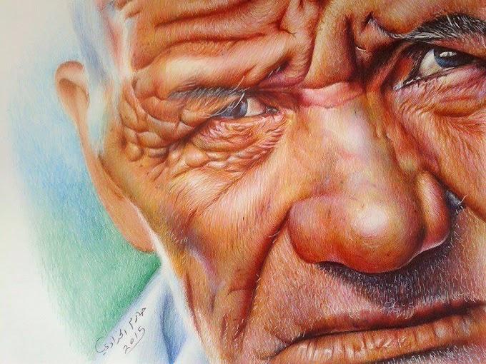 رسم رائع للرسام حازم سلام