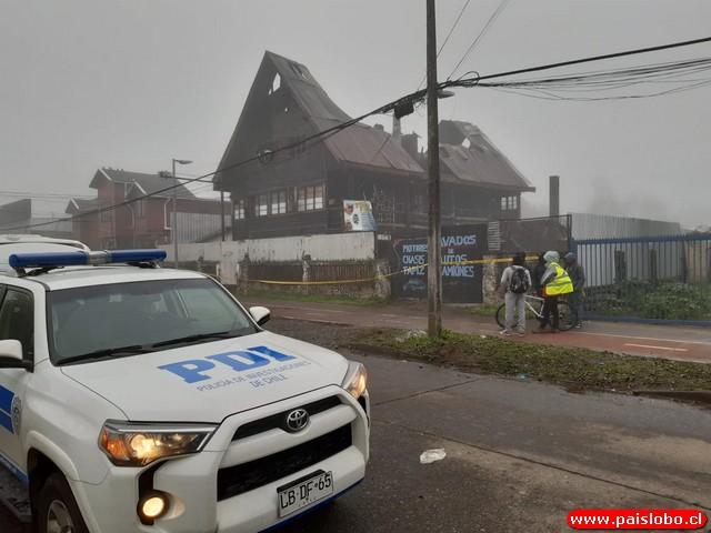 🚨PDI se refiere a fatal incendio ocurrido de noche en Osorno