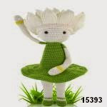 patron gratis muñeca flor amigurumi, free pattern amigurumi flower doll