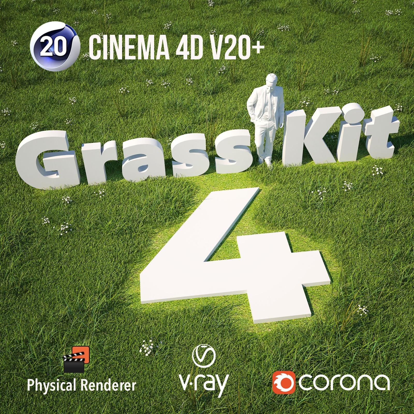 CGTalk   Grass kit v4   cinema 4d r20+