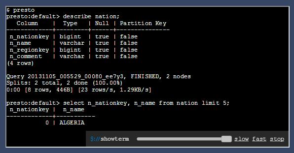 Mã nguồn mở Presto: truy vấn SQL dữ liệu bigdata lên đến hàng GB hay TB