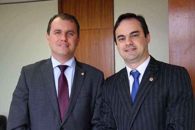 Moses Rodrigues e Capitão Wagner discutem Insegurança pública do Ceará em Brasília