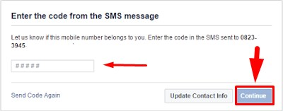 create facebook account with mobile number