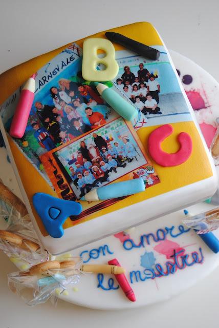 festa, torta e biscotti per sottolineare il passaggio dalla scuola dell' infanzia alla primaria