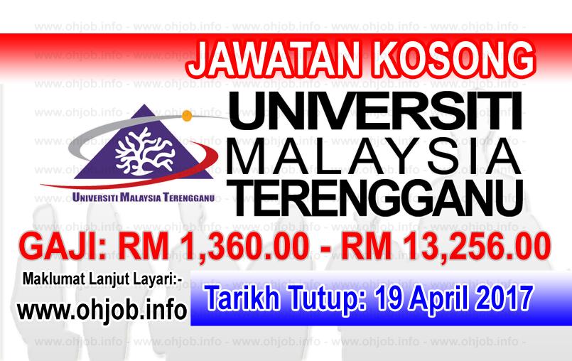 Jawatan Kerja Kosong UMT - Universiti Malaysia Terengganu logo www.ohjob.info april 2017
