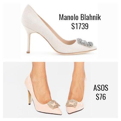 Designer Dupes Look For Less Manolo Blahnik Hangisi Pumps